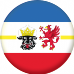 Mecklenburg-Vorpommern State Flag 25mm Pin Button Badge